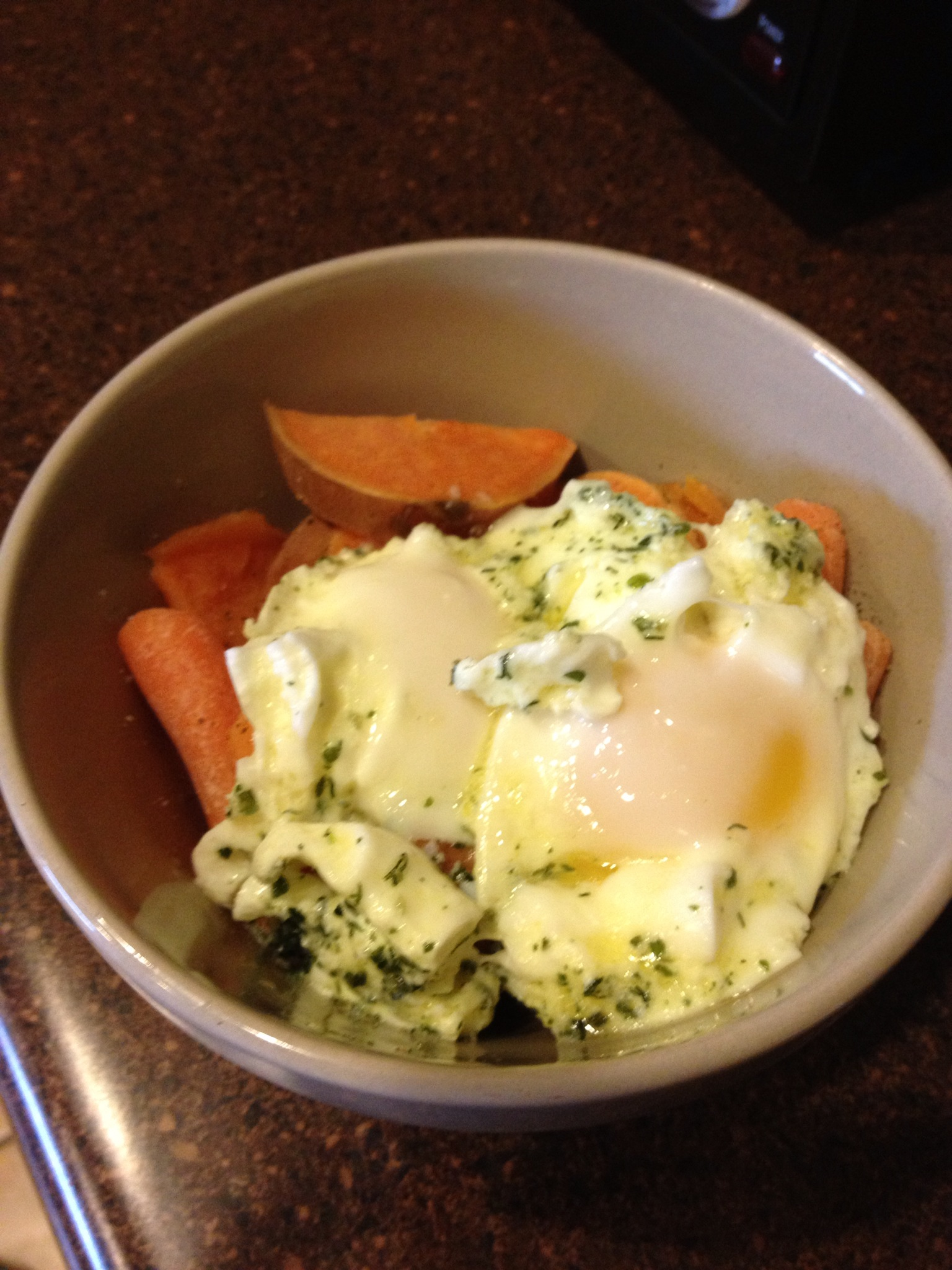 Simple and Easy Paleo Recipes: Eggs and Diced Sweet Potatoes